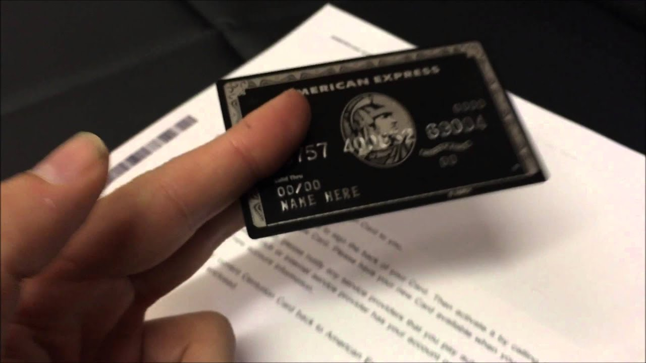 Best METAL American Express Centurion Card Replica (Black Card ...