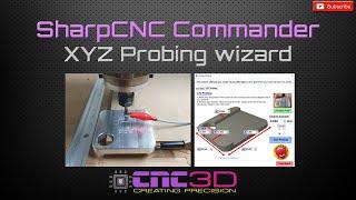 SharpCNC Commander GRBL Control software -  XYZ Probing wizard