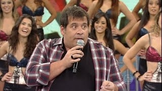 Leandro Hassum faz plateia cair na gargalhada com piadas no Domingão do Faustão