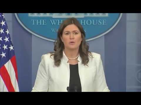 The White House Press Secretary Sarah Sanders holds a briefing. Acting Assistant Attorney General