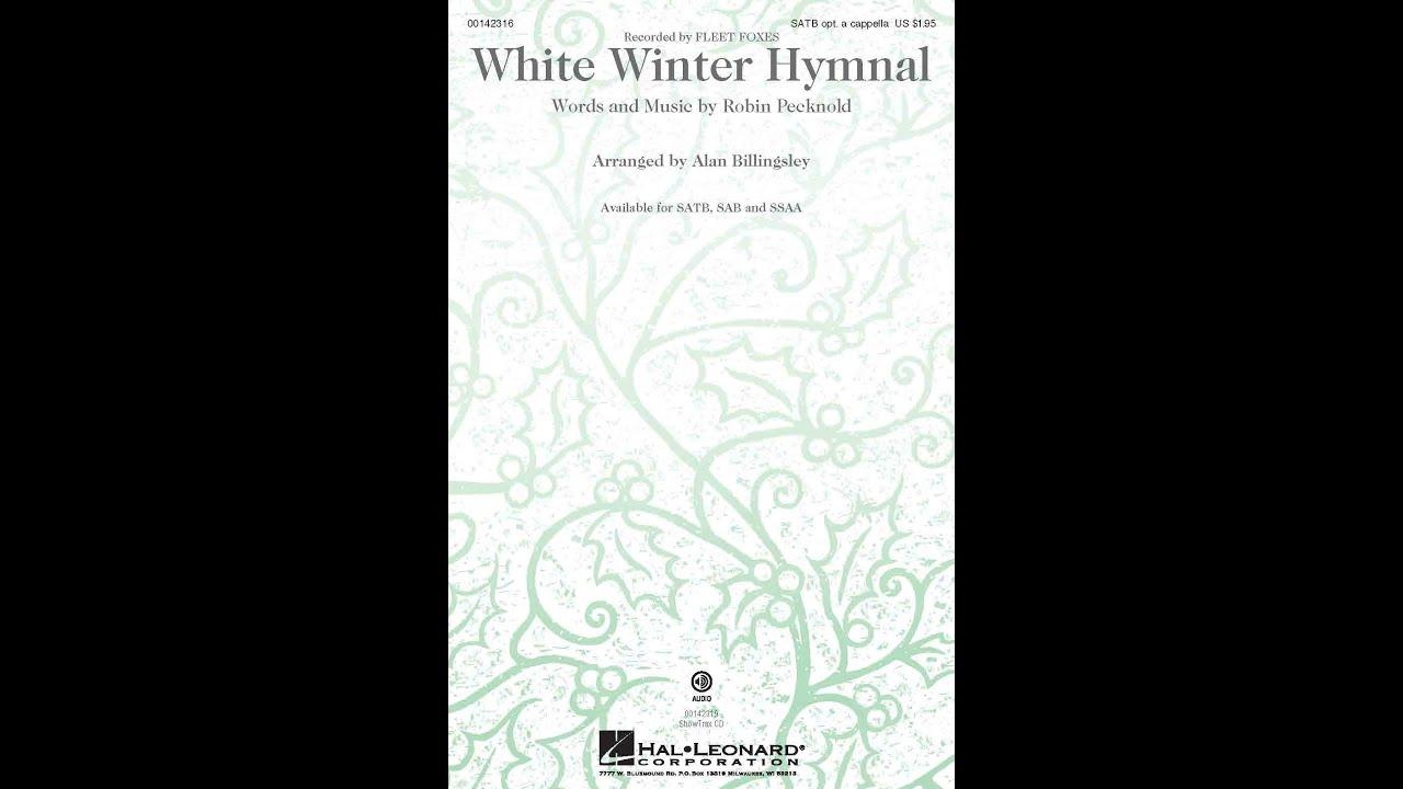 white winter hymnal satb choir arranged by alan. Black Bedroom Furniture Sets. Home Design Ideas