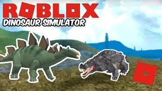 Roblox Dinosaur Simulator - Stegosaurus Remake! + Sausage VS Exploiter!