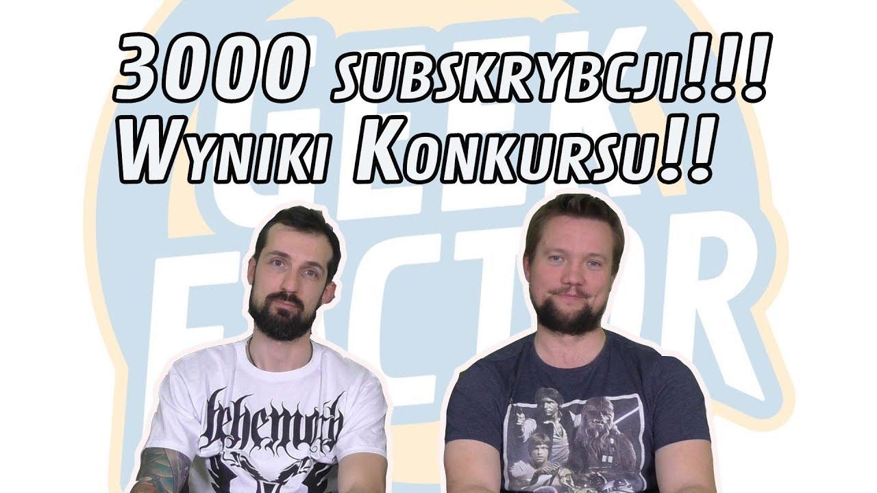 KONKURS 3000 SUBÓW – WYNIKI!!!