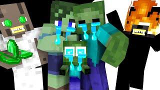 Monster School : Zombie Family Very Sad Life - Minecraft Animation