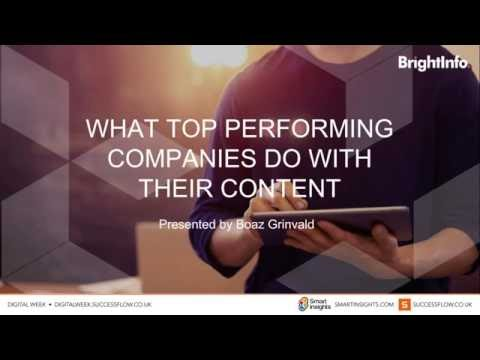 Digital Week- BrightInfo- What Top Performing Companies do with their Content