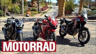 Honda CB 500 F, CBR 500 R, CB 500 X: Die Honda-Familie im Vergleich