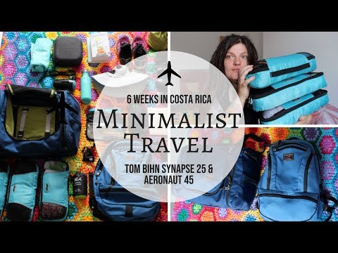 MINIMALIST PACKING | 6 weeks in Costa Rica | Tom Bihn Aeronaut 45 litre + Synapse 25 + Accessories