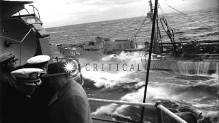 United States Secretary of Navy Charles Thomas on board St. Paul ship in the Paci...HD Stock Footage