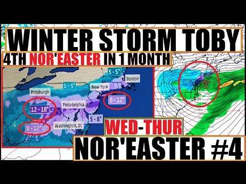 NOR'EASTER WINTER STORM TOBY 1st Day of SPRING EQUINOX! 4th NOR'EASTERin MARCH