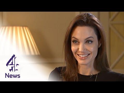 Angelina Jolie on Unbroken, directing Brad Pitt & the mansion tax