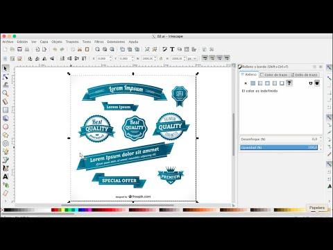 INKSCAPE 62 -  Galería con archivos en vectores gratis y su manejo en Inkscape.