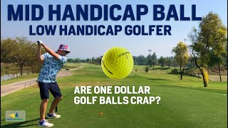 Low Handicap plays Cheap 2 piece Mid Handicap Golf Ball - What's the Difference?