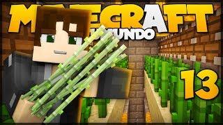 FARM DE CANA DE AÇUCAR AUTOMÁTICA! // Meu Mundo #13 // Minecraft