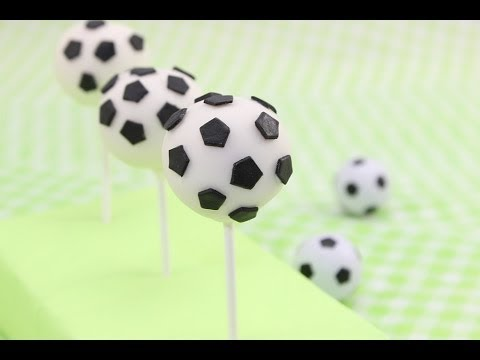fu ball wm 2014 fu ball cake pops zitronen joghurt cake pops soccer cake pops youtube. Black Bedroom Furniture Sets. Home Design Ideas