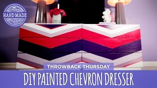 Diy Painted Chevron Dresser - Throwback Thursday - Hgtv Handmade