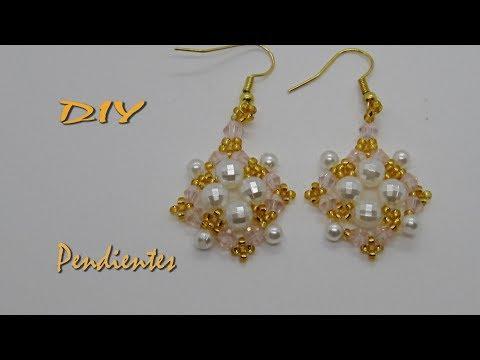 DIY - Pendientes con dorado -- Earrings with gold