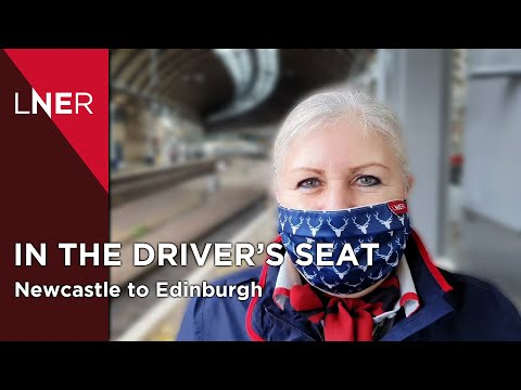 The Train Drivers view - Newcastle to Edinburgh with LNER