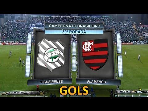 Gols, Figueirense 3 x 0 Flamengo - Brasileirão 14/10/2015