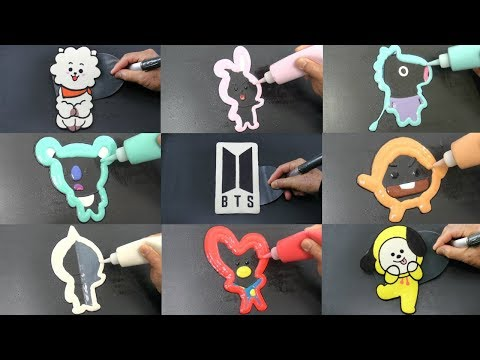BTS Complete Set BT21 Pancake Art, Sushi, Ice Cream