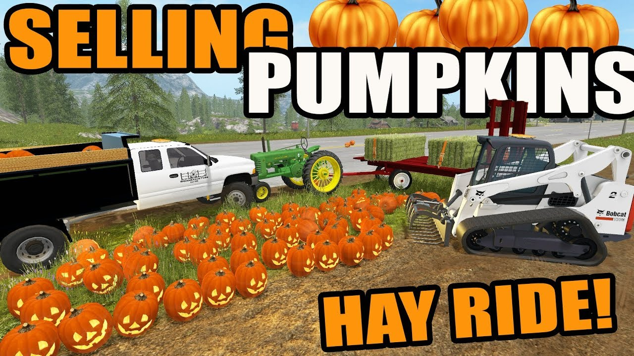 farming simulator 2017 | halloween special- delivering pumpkins, hay