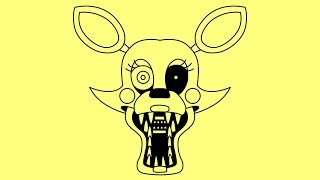 How to draw Five nights at Freddy s characters step by step easy Mangle Toy Foxy