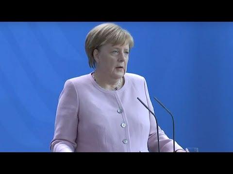 PK mit Bundeskanzlerin #Merkel und dem ukrainischen Staatspräsidenten Wolodymyr #Selenskyj