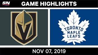 NHL Highlights   Golden Knights vs. Maple Leafs – Nov. 07, 2019