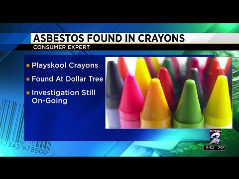 WARNING Asbestos Present in Kids' Crayons along with other Toys