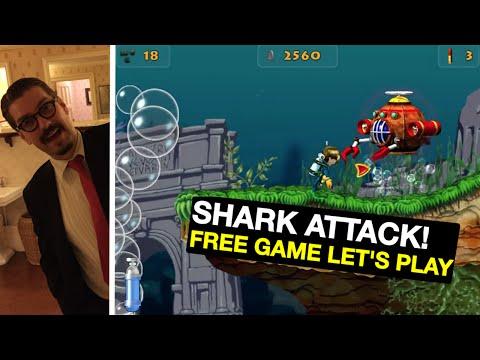 Lets Play SHARK ATTACK! - Free Scuba Platform Game