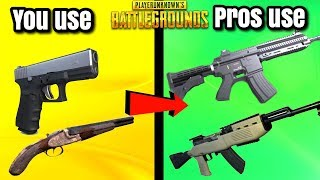 5 BEST WEAPON COMBOS IN PUBG! - PlayerUnknownsBattlegrounds
