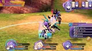 Hyperdimension Neptunia Re Birth 1 - Gameplay PC - boss Black heart