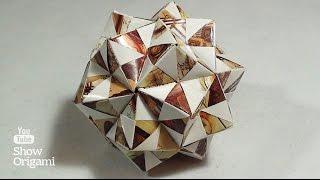 Шар #кусудама Эшера(Шар #кусудама Эшера. Чтобы собрать такой шар вам потребуется 30 листов размером 9х9 см и немного терпения...., 2016-06-06T09:17:17.000Z)