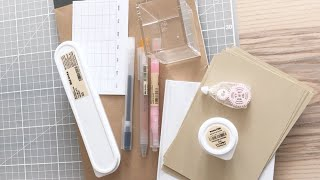 Muji stationery haul unboxing
