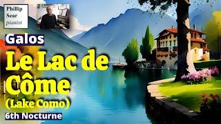 C. Galos: Le Lac de Côme (Lake Como), 6th Nocturne