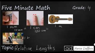 4th Grade Math Relative Lengths