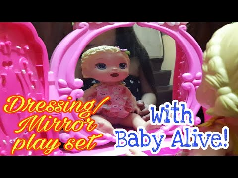 Pink Dressing Mirror Playset | With Baby Alive | Amiya