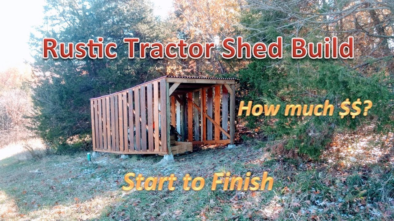 Building A Drive Through Tractor Shed