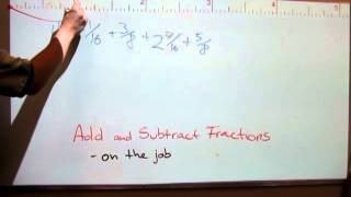Add and subtract fractions - by a tape measure