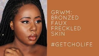 GRWM || Glowing Bronzed Skin For Brown Girls | Discoveries of Self