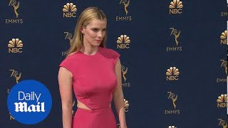 Pretty in HOT pink! Betty Gilpin commands 2018 Emmys red carpet