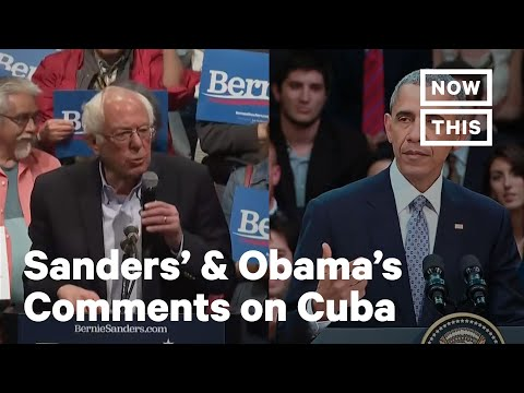 A Breakdown of Bernie's & Obama's Comments on Cuba | NowThis
