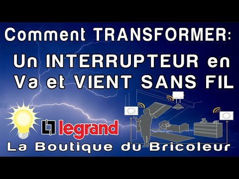 de a a z transformer un interrupteur simple en va et vient radio sans travaux youtube. Black Bedroom Furniture Sets. Home Design Ideas