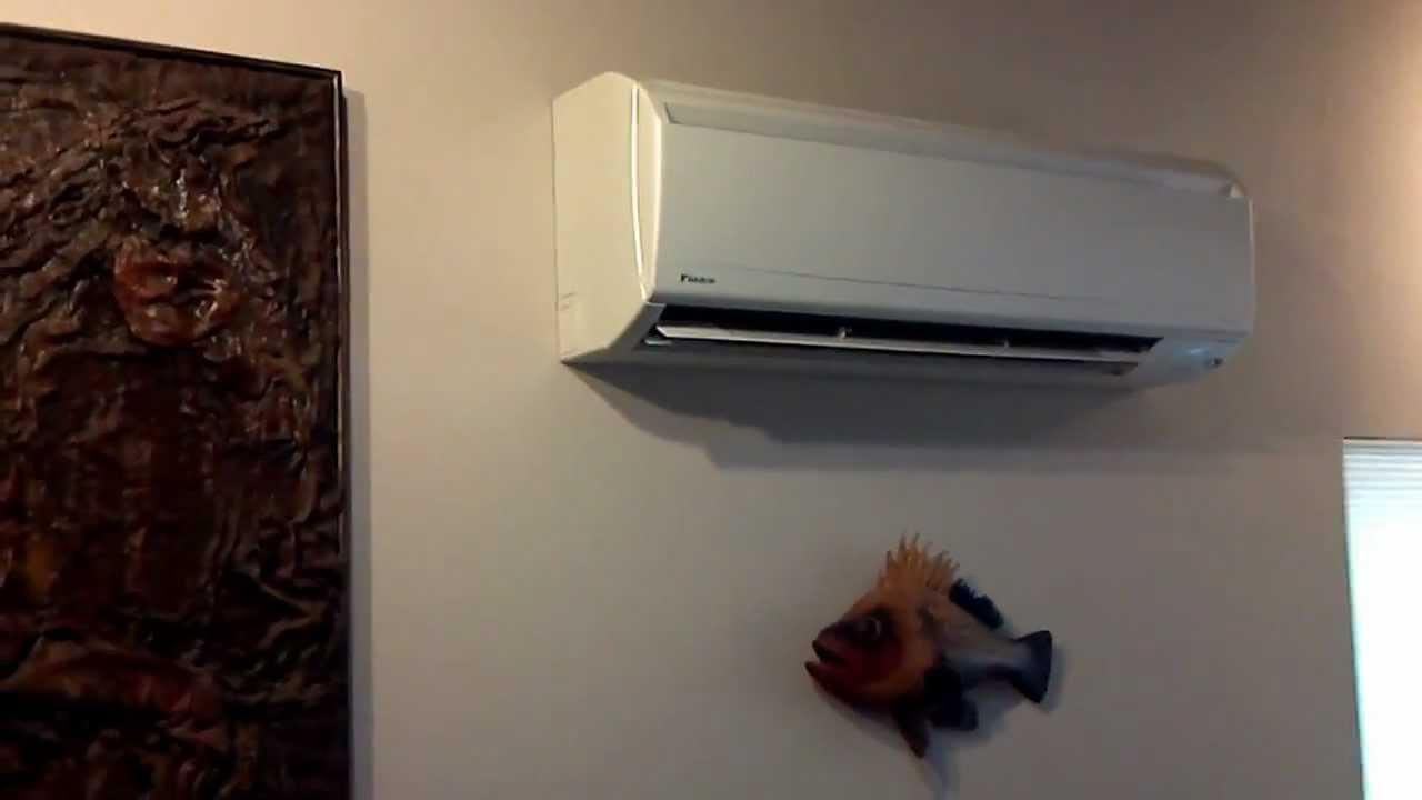 twin daikin ductless heat pump install walkthrough