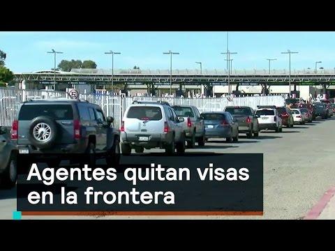 Agentes quitan visas en la frontera - Migrantes - Denise Maerker 10 en punto