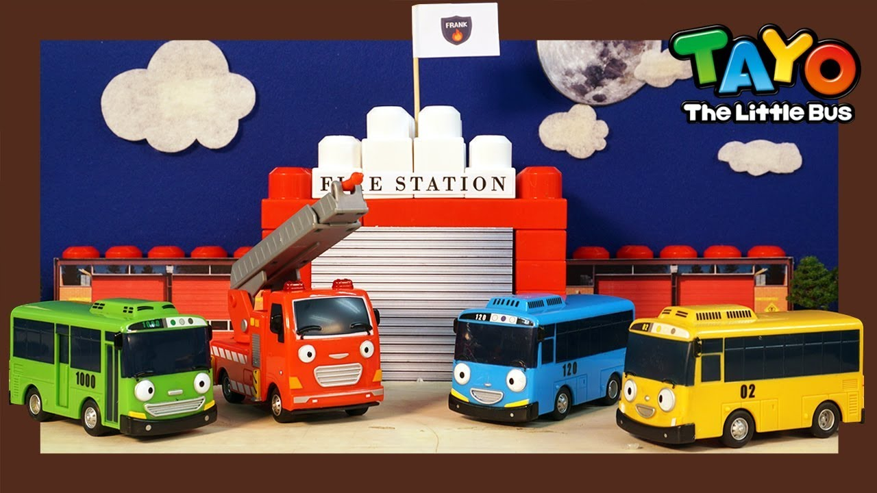 Tayo Kendaraan berat Mainan menunjukkan l #14 membangun stasiun pemadam kebakaran l Tayo Bus Kecil