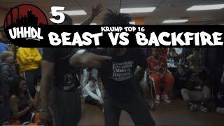Beast vs Backfire | Krump Top 16 | Underground Hip Hop Dance League #UHHDL