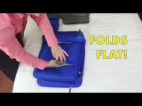 The Worlds First 4 Wheeled Foldable Luggage!
