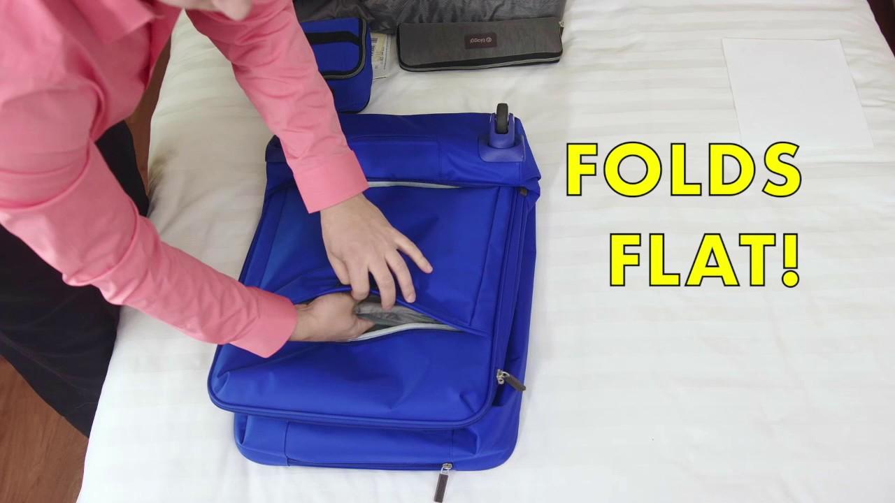 The Worlds First 4 Wheeled Foldable Luggage! - YouTube 1737c85f76aba