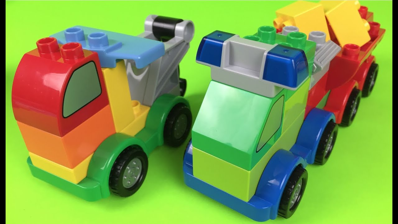 Lego Duplo Machines Ages 1 12 5 Build Trucks Cars Tow Trucks The