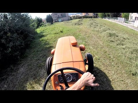 Let's Drive | Fiat 350 SPECIAL Bi-Cilyndrical Engine - 35 hp | Turning Hay